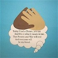 Martin Luther King Handprint Poem Craft for kids