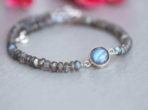 Artisan Labradorite bracelet  beaded bracelet  by Studio1980
