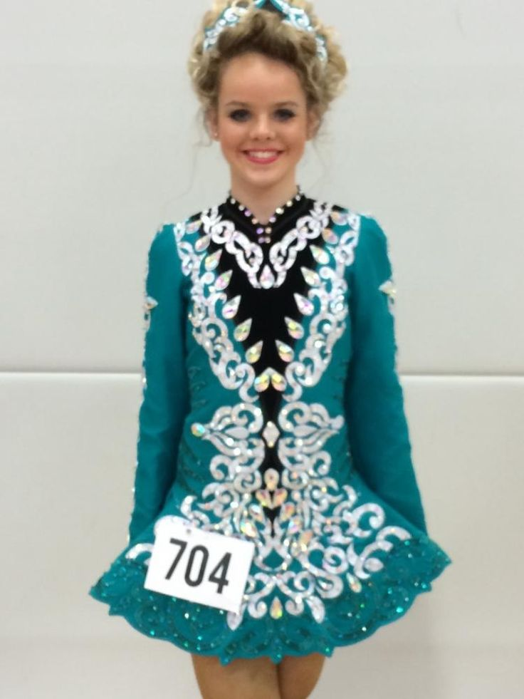 Exquisite Green Taylor Dresses Irish Dance Dress Solo Costume For Sale