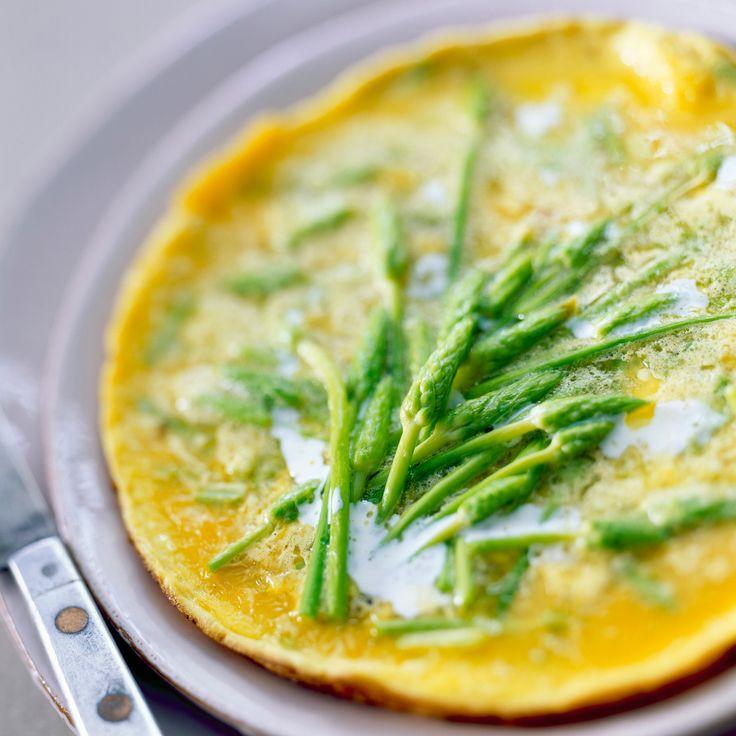 Recette du jour : Omelette aux asperges sauvages de ma maman