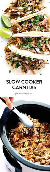 The BEST Slow Cooker The BEST Slow Cooker Pork Carnitas! Theyre...  The BEST Slow Cooker The BEST Slow Cooker Pork Carnitas! Theyre easy to make in the crock pot made with my favorite Mexican seasonings and so crispy and delicious! Perfect for tacos enchiladas salads burritos quesadillas and more. | gimmesomeoven.com Recipe : http://ift.tt/1hGiZgA And @ItsNutella  http://ift.tt/2v8iUYW