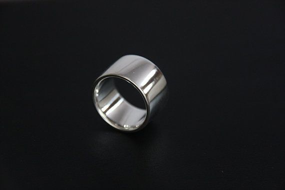 13mm Super Wide Sterling Silver Wedding Band - Flat Traditional Ring - Soft Fit *Custom made in Your Size