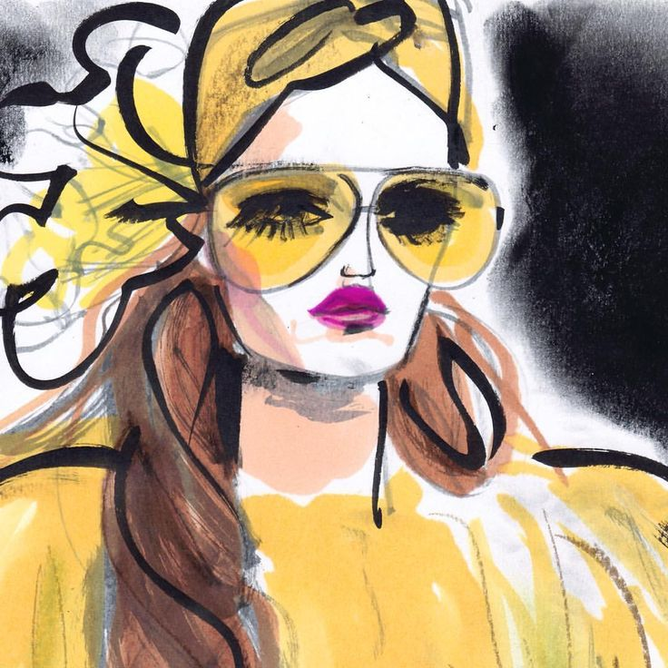 Astrid Vos FASHION ILLUSTRATOR sur Instagram : Who's afraid of yellow? #designer #glam #lifestyle #style #fashion #fashionista #fashionshow #gucci #elegance #sunglasses #glitz #glasses #fakefur #frontrow #chic #color #colorful #yellow #model #makeup #beauty #sketch #fashiondrawers #fashionsketch #fashionillustrators #sketch #artsy #artwork