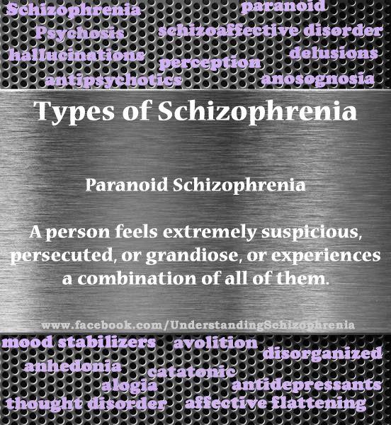 #MIAW14 Types of Schizophrenia--Paranoid Schizophrenia