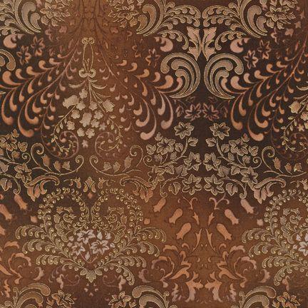 Robert Kaufman Fabrics: APTM-5574-167 CHOCOL by Peggy Toole from Fusions® 5574