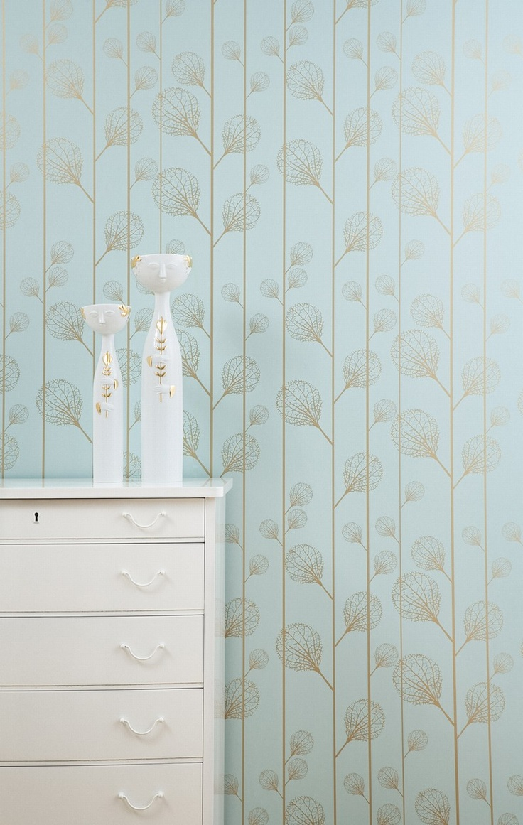 Ferm Living Wallpaper: Ribbed - Turquoise