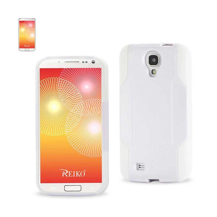 Reiko Samsung Galaxy S4 Hybrid Heavy Duty Case White | MaxStrata