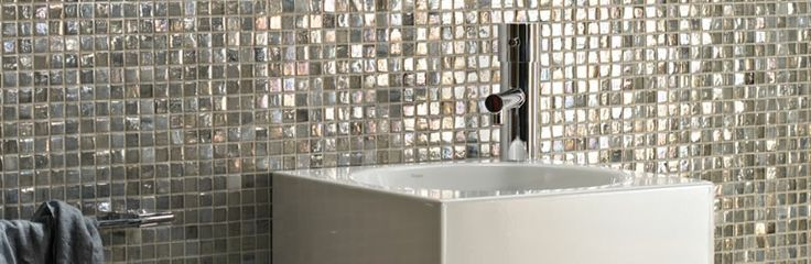 Glistening Malacassa glass mosaics, made using recycled glass.