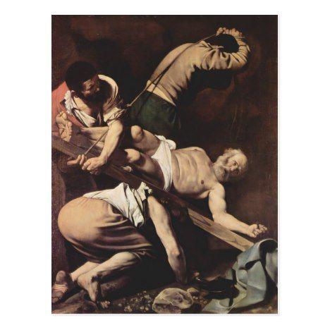 Caravaggio- Crucifixion of Saint Peter Postcard