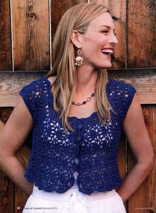Crochetemoda: Boleros free patterns. molti schemi e modelli di piccole giacche e boleri!