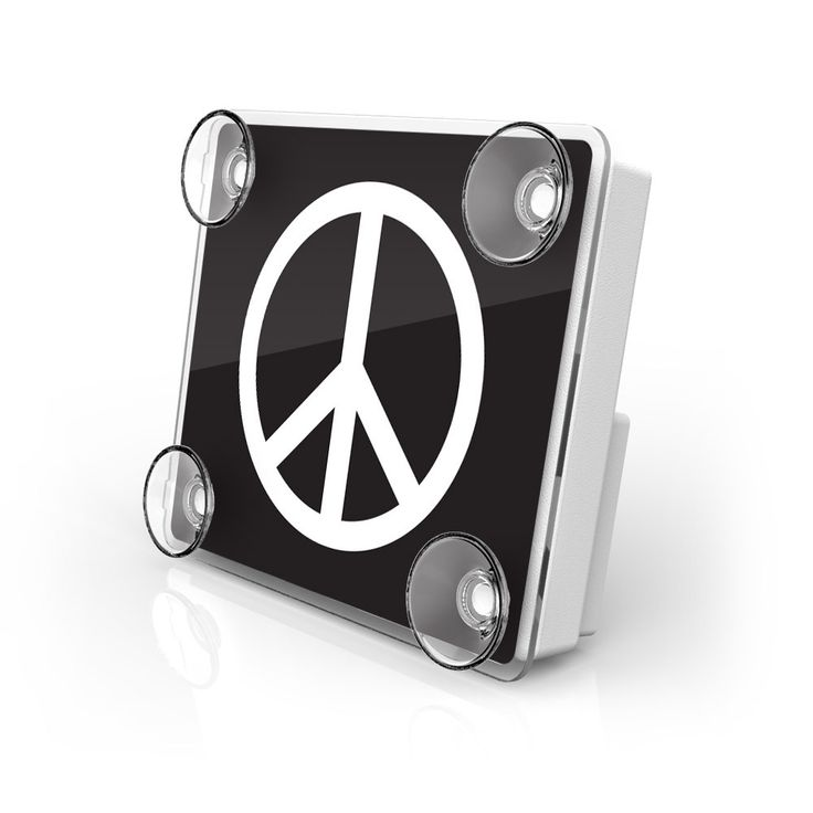 Large Toll Pass / EZ Pass / Transponder Holder - Peace 1