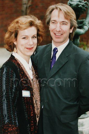"""Alan Rickman and Juliet Stevenson who had recently starred together in""""Truly, Madly, Deeply"""" - 1992"""