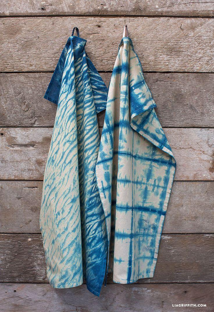 DIY Indigo Dye Tea Towels