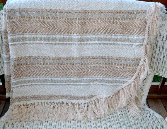 Just REDUCED Vintage Bedspread Southwestern Bedspread with by JudysJunktion