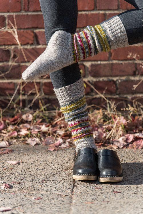 Skolt Sámi Boot Socks in The Fibre Co. Cumbria