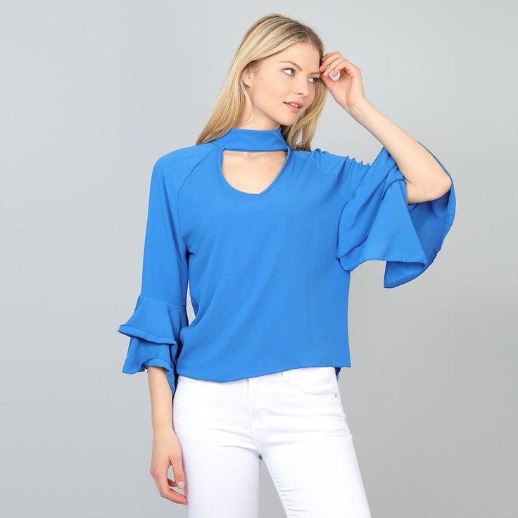 Pala D'oro Choker Top in Blue €26.95 @carraigdonn
