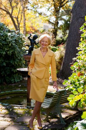 The Governor-General, Ms Quentin Bryce, in Lady Gowrie's garden.