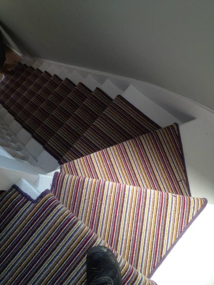 Stair runner installed by The Fine Flooring