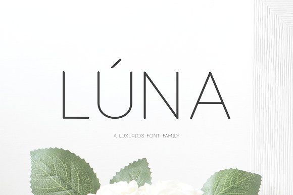 (NEW) Lúna - A Luxurios Font Family by Graphicfresh on @creativemarket