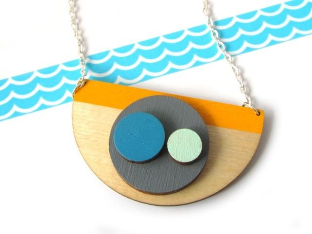 Abstract Semi Circle Geometric Necklace £24.00