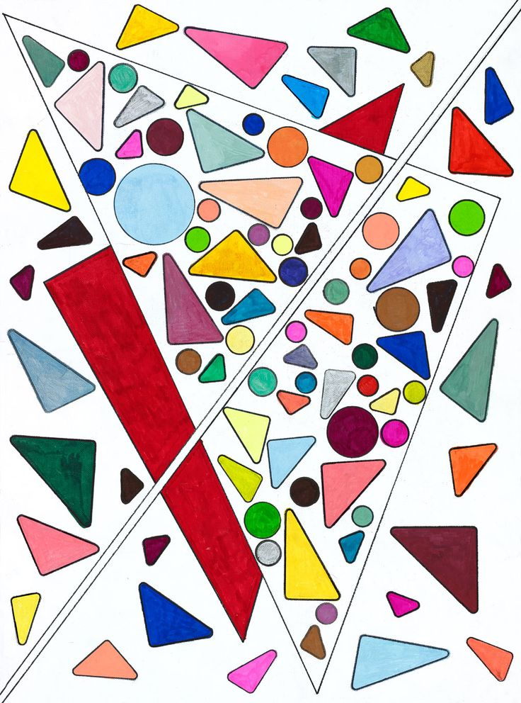 Triangles of Colored Candy with Red Howard Schoor Art
