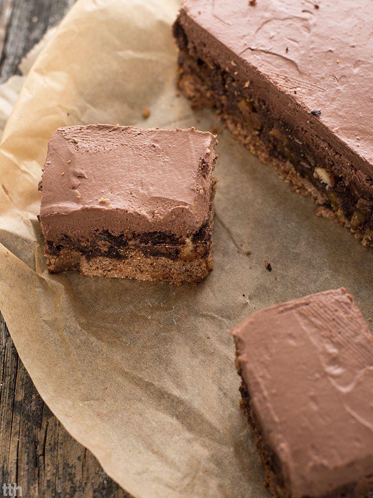 Makowiec z delikatnym i kremowym musem czekoladowy (weganskie, bezglutenowe)