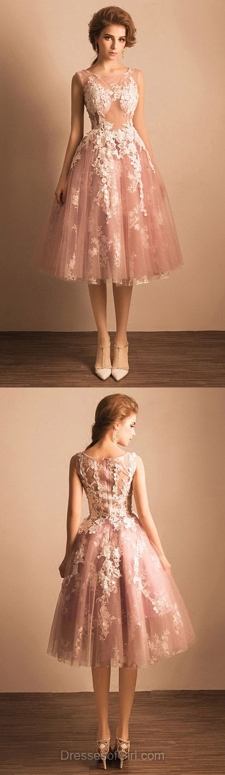 Vintage Prom Dress, Short Prom Dresses, Princess Homecoming Dress, Tulle Homecoming Dresses, Cheap Cocktail Dress