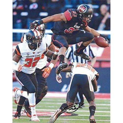 Devontae Booker, Utah Utes, Signed, Autographed, 8X10 Photo, a Coa with the Proof Photo of Devontae Signing Will Be Included