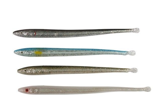 SavageGear USA - Sandeel Slug: In our effort to develop a program for saltwater lure fishing, we designed a series of ultra realistic Sandeel Slugs that have a solid front body and a hollow tail section that makes the lure float. The solid front body section makes a perfect hook hold. The hollow body back section collapses when the fish engulfs it which ensures a better hookup rate. The lure can be fished on an offset hook, on a weedless rig tuned with weight to have any sink rate desired…
