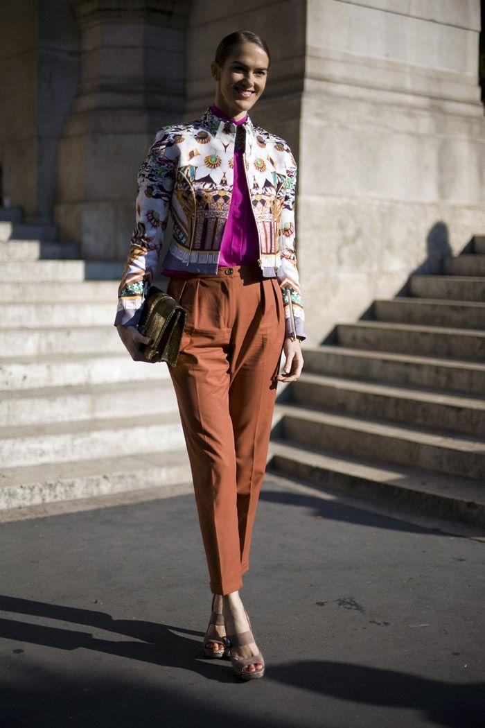 JJ Martin in Mary Katrantzou | Street Fashion | Street Peeper | Global Street Fashion and Street Style