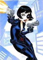X-Force Domino Comic Art