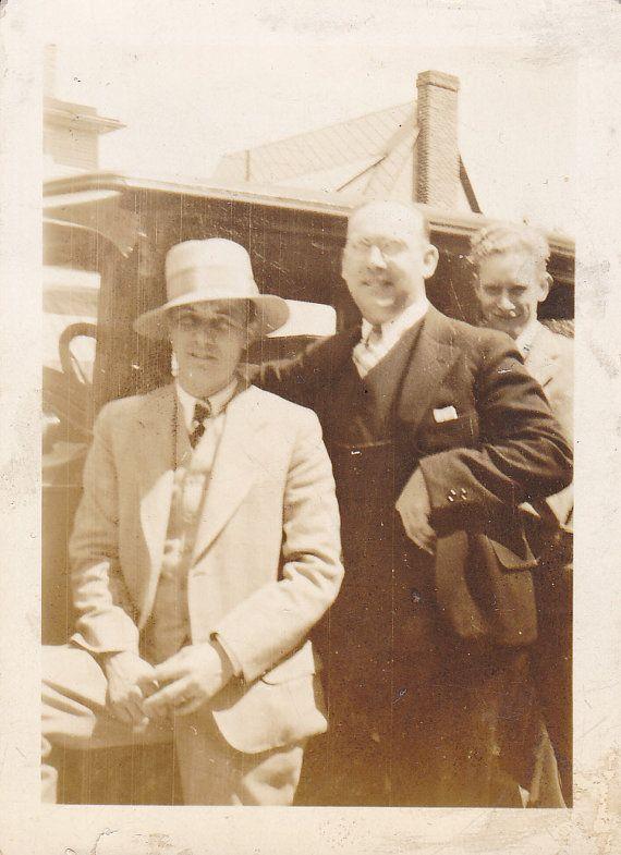 Vintage Photo Funny Gangster Fashion Hat Snapshot ...