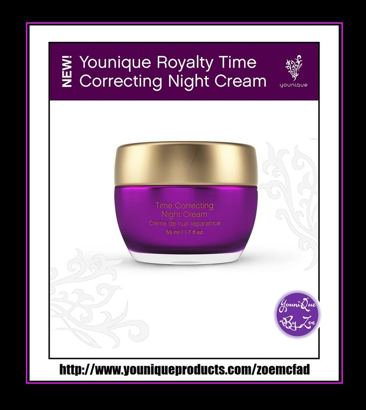 Royalty Time Correcting Night Cream Nourish skin while you sleep Make your beauty sleep count with a velvety night cream that helps to minimize the appearance of fine lines and wrinkles. Whey protein improves the appearance of your skin's firmness while a vitamin A derivative hydrates and moisturizes skin.  #YOUNIQUE #australia #newzealand #germany #spain #france #canada #usa #uk #mexico #hongkong #beauty #makeup #skincare