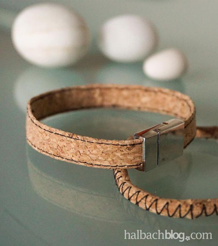 halbachblog i diy mit halbach korkstoff i korkstoff armband n hen i korkstoff armband in zwei. Black Bedroom Furniture Sets. Home Design Ideas