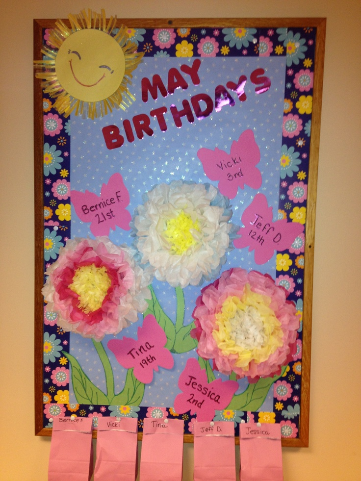 May birthday board for work. | cute ideas to use at work ...