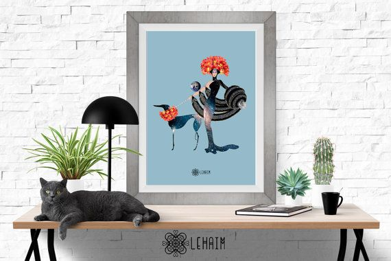 Lady of the Universe print Chic style Poster wall por LehaimDesign
