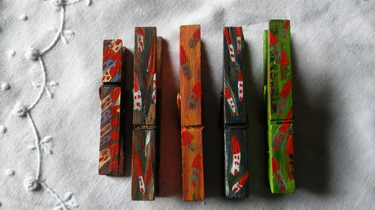 Clothespins (painted)