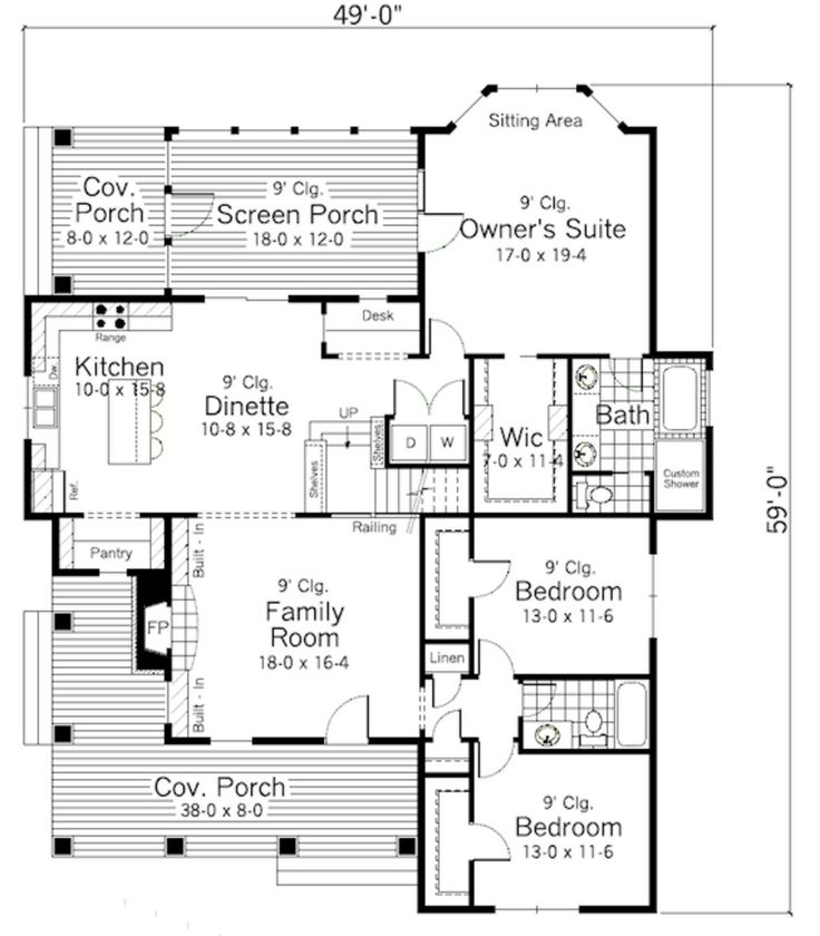 891 best images about house plans small er on for American garage builders