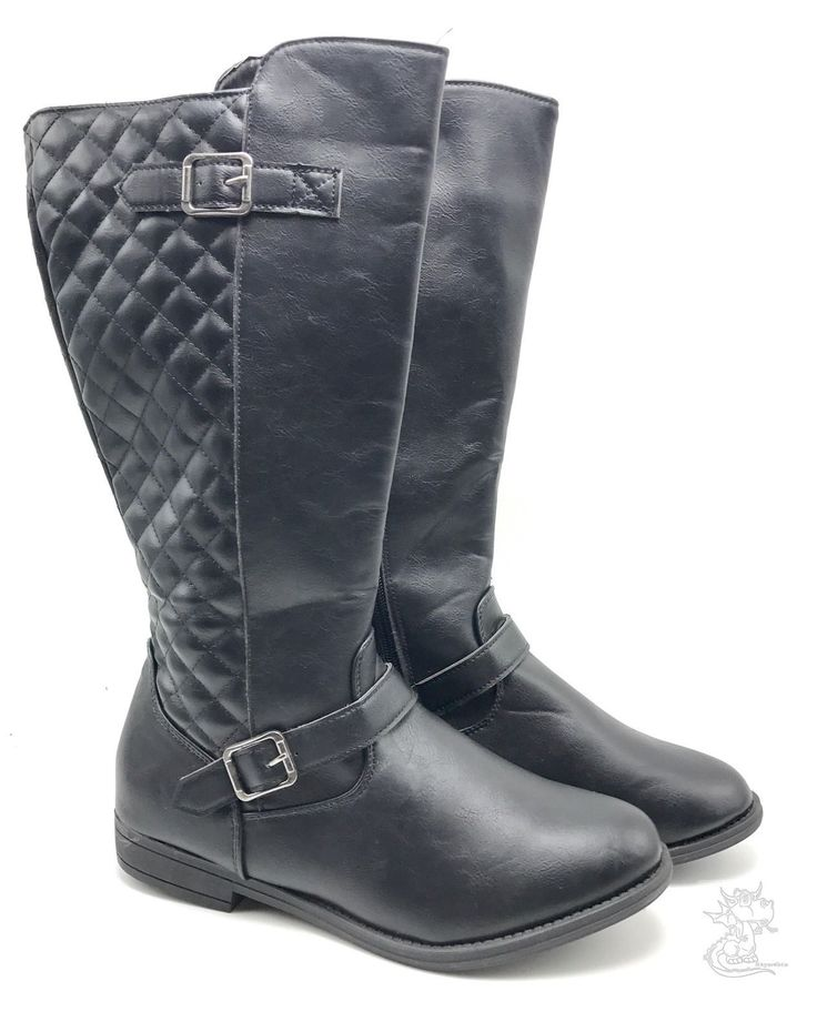 New item today Women's Black Und... found at  http://keywebco.myshopify.com/products/womens-black-under-the-knee-tall-trendy-faux-leather-zip-up-boots-size-8-new?utm_campaign=social_autopilot&utm_source=pin&utm_medium=pin
