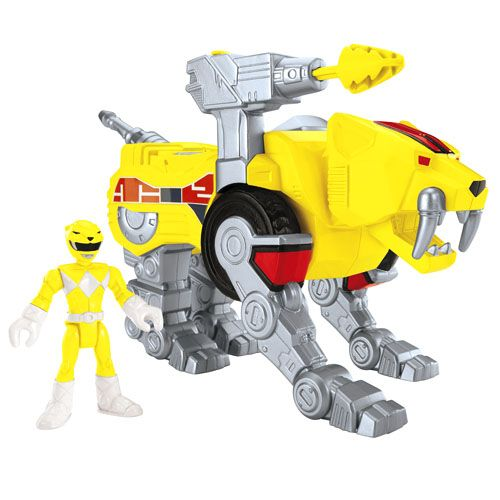Imaginext® Power Rangers Yellow Ranger and Sabertooth Zord - Shop Imaginext Kids' Toys | Fisher-Price