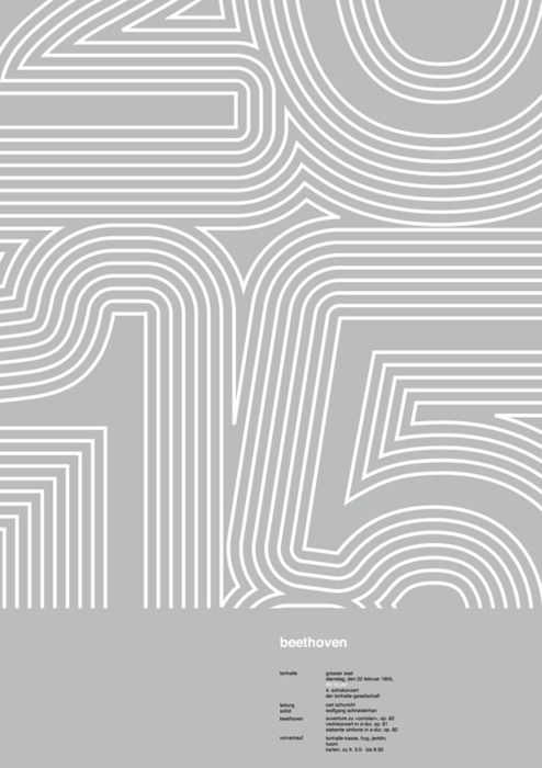 Poster by Josef Muller Brockmann repinned by Awake — http://designedbyawake.com