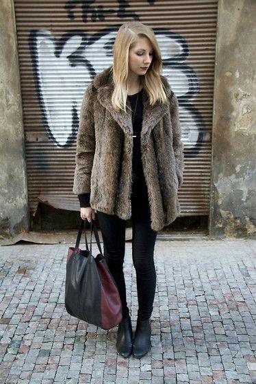 Zara Bag, Debenhams Coat, Topshop Jeans, Asos Shoes