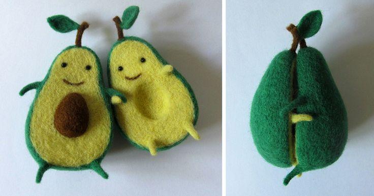 Amor de aguacate: creaciones de fieltro de la artista ucrania Anna Dovgan | Bored Panda