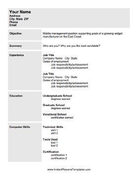 resume with photo template when seeking a position in management use this printable 24482