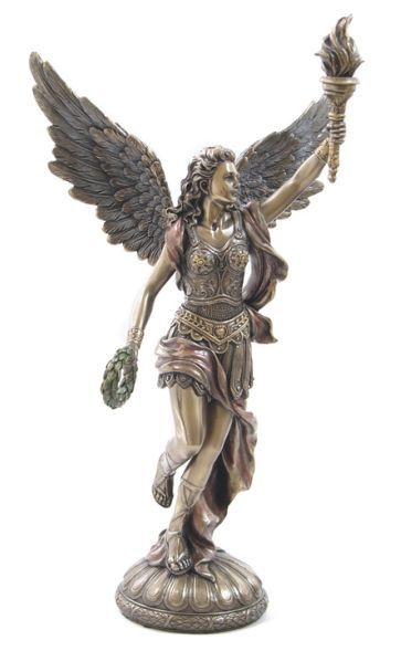 In greek mythology nike pronounced was a goddess who for Greek sculpture tattoo