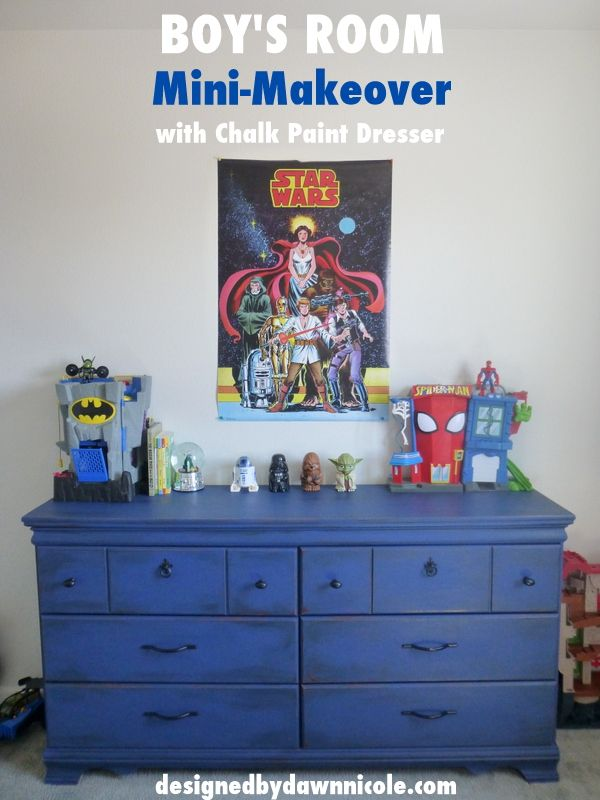 Boy's Room Mini-Makeover {with Chalk Paint Dresser}