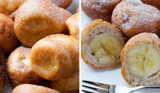 Unás doma sa poovocných dezertoch vždy len tak zapráši. Tento je však pre nás vynimočný apripravujeme ho vždy na raňajky pre oslávenca. Výnimočné spojenie banánov, vláčneho cestíčka avoňavej škorice môže premeniť aj váš deň na nevšedný zážitok! Potrebujeme: 3-4 banány 1 šálku hladkej múky 1 ½ lyžičky prášku do pečiva Štipku soli 1 šálku bieleho...