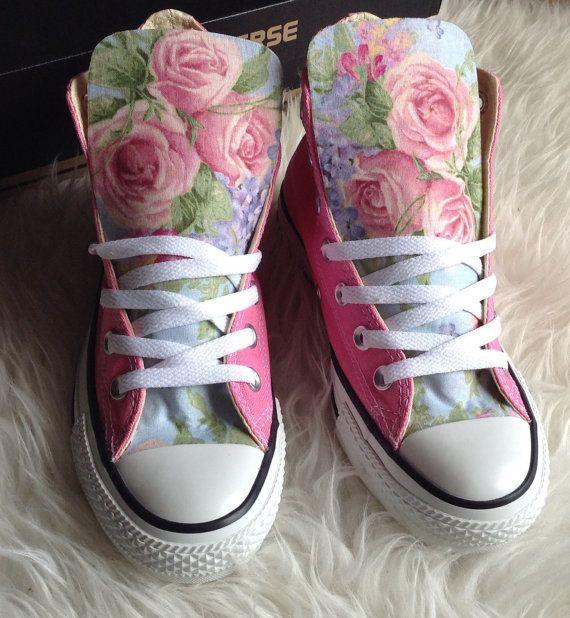 Sommer Blumen Converse Schuhe