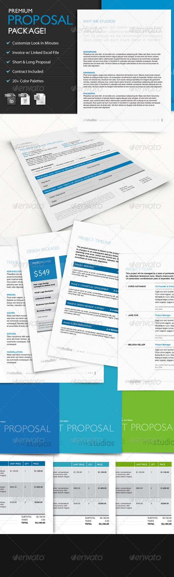 Premium Proposal Template - w/ Contract & Invoice - GraphicRiver Item for Sale