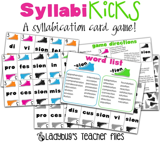 Syllable Words List - Phonics Learning Games